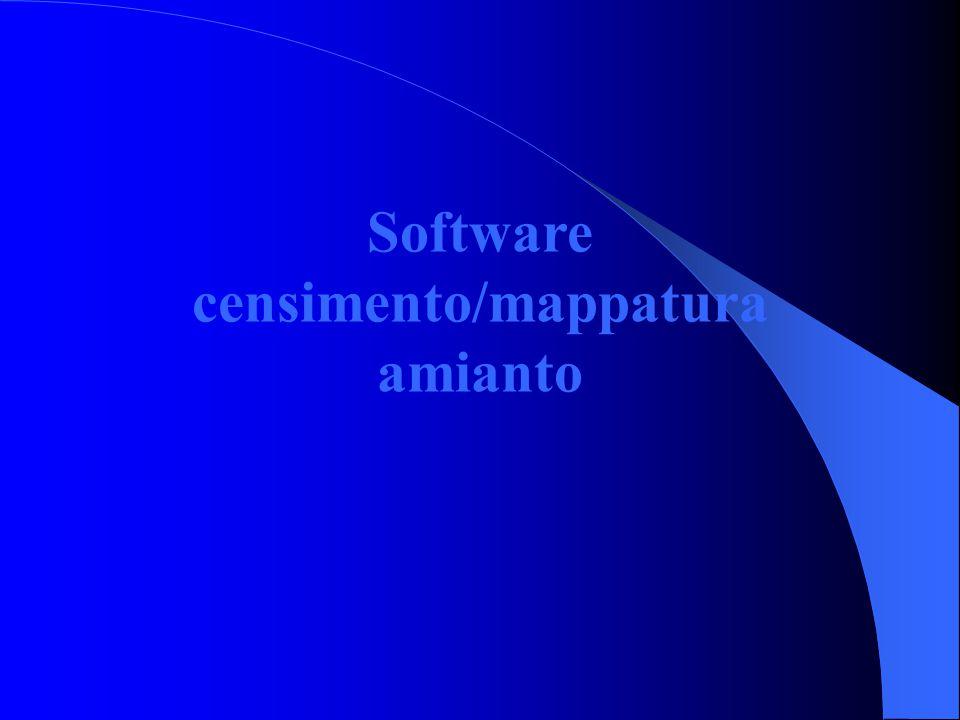 Database unico a livello regionale Il database consegnato alle 13 ASUR territoriali all'inizio del 2005 sul censimento amianto è stato modificato in diverse parti al fine di inglobare il nuovo software sul calcolo del punteggio per la priorità di intervento.