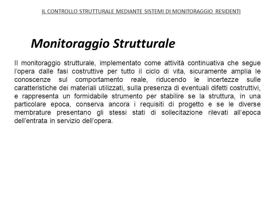Monitoraggio Strutturale Il monitoraggio strutturale, implementato come attività continuativa che segue l'opera dalle fasi costruttive per tutto il ci