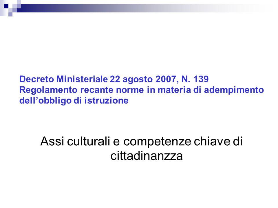 Decreto Ministeriale 22 agosto 2007, N.