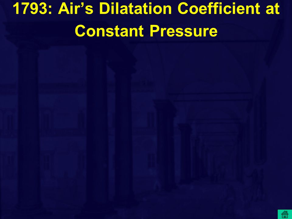 1793: Air's Dilatation Coefficient at Constant Pressure