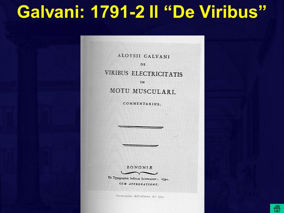 Galvani: 1791-2 Il De Viribus
