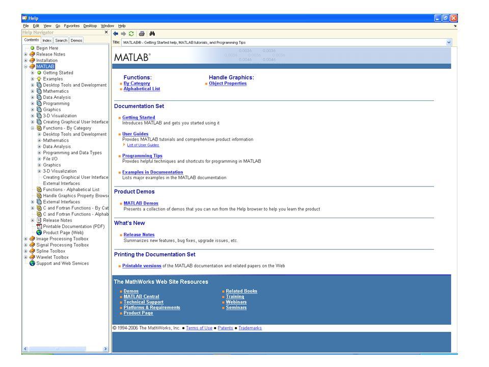 Script Uno SCRIPT è una lista di comandi MATLAB che può eventualmente richiamare funzioni MATLAB built-in o create utilizzando altri m-file.