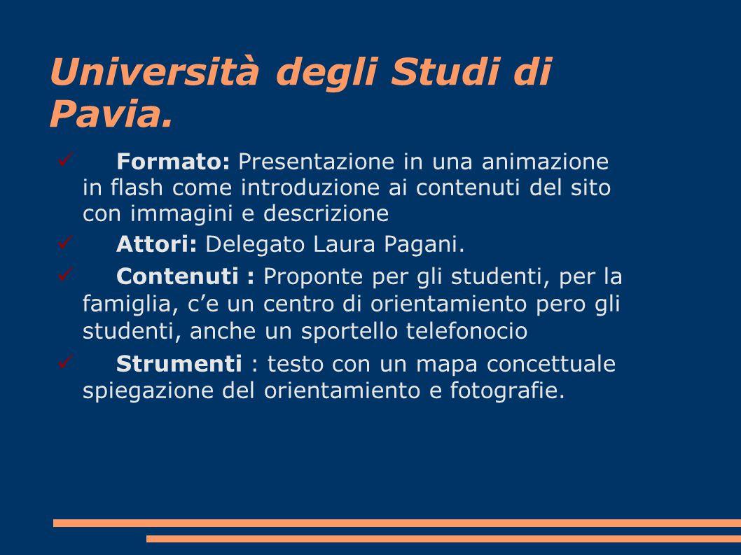 Università degli Studi di Pavia.