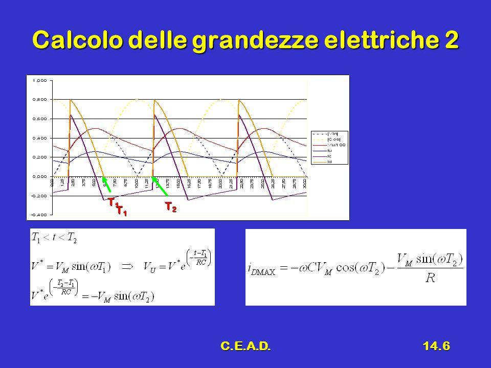 C.E.A.D.14.6 Calcolo delle grandezze elettriche 2 T1T1T1T1 T2T2T2T2 T1T1T1T1