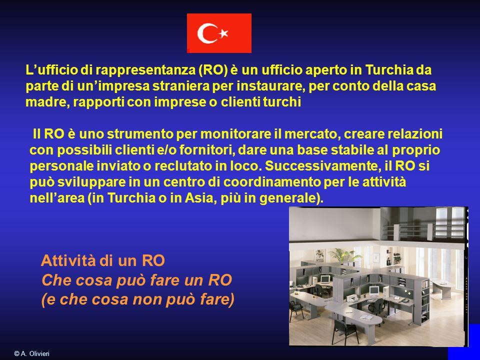 L'ufficio di rappresentanza (RO) è un ufficio aperto in Turchia da parte di un'impresa straniera per instaurare, per conto della casa madre, rapporti con imprese o clienti turchi © A.