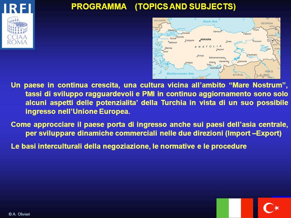 PROGRAMMA (TOPICS AND SUBJECTS) © A.