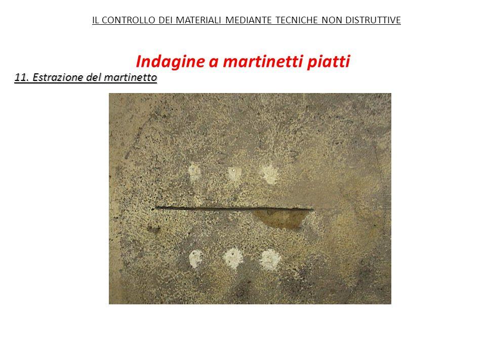 11. Estrazione del martinetto Indagine a martinetti piatti IL CONTROLLO DEI MATERIALI MEDIANTE TECNICHE NON DISTRUTTIVE