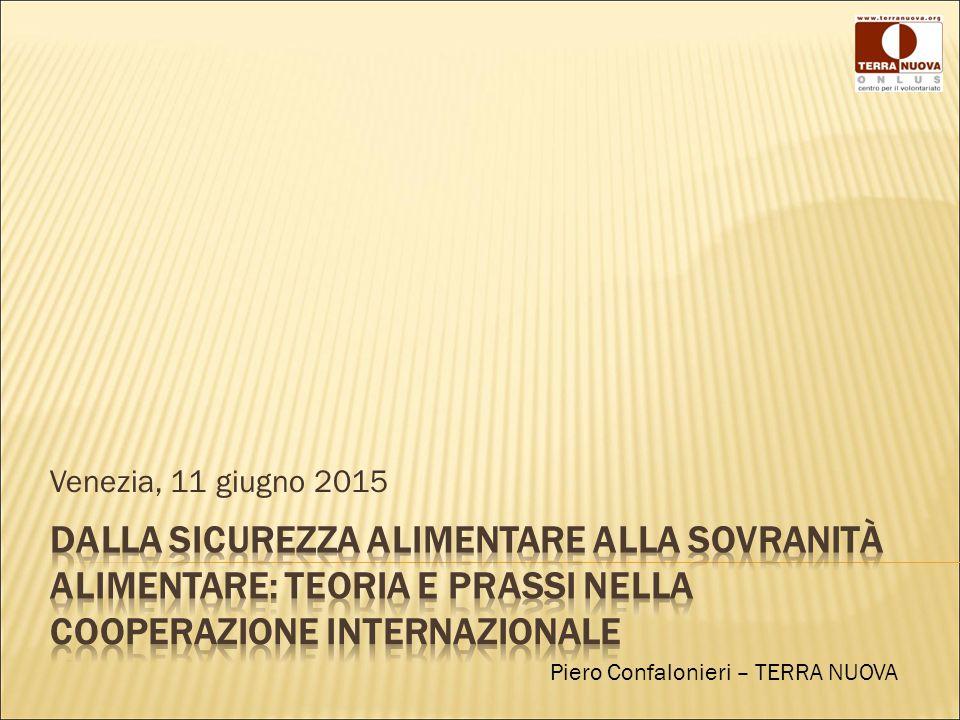 Venezia, 11 giugno 2015 Piero Confalonieri – TERRA NUOVA