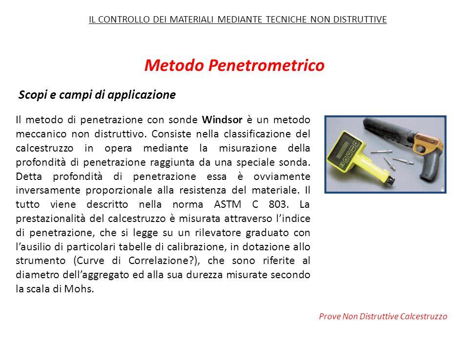 Il metodo di penetrazione con sonde Windsor è un metodo meccanico non distruttivo.