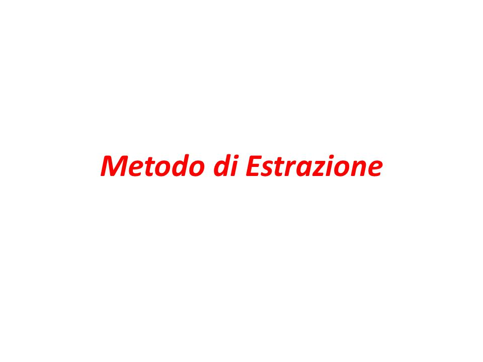 Metodo di Estrazione