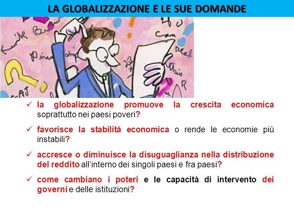 la globalizzazione promuove la crescita economica soprattutto nei paesi poveri.