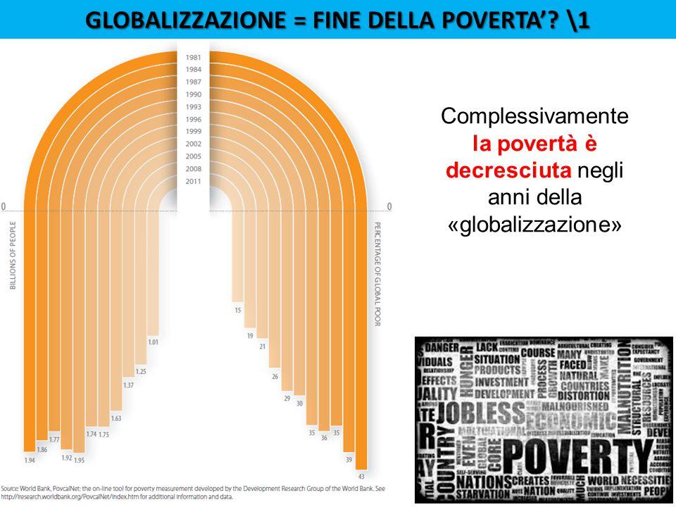 GLOBALIZZAZIONE = FINE DELLA POVERTA'.