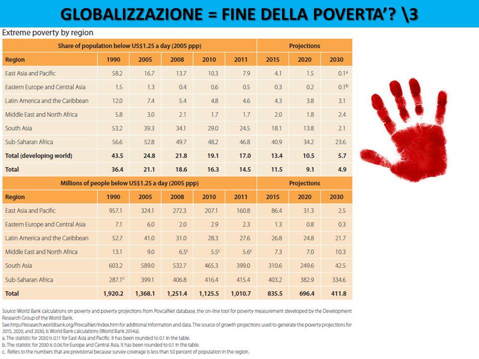 GLOBALIZZAZIONE = FINE DELLA POVERTA'? \3