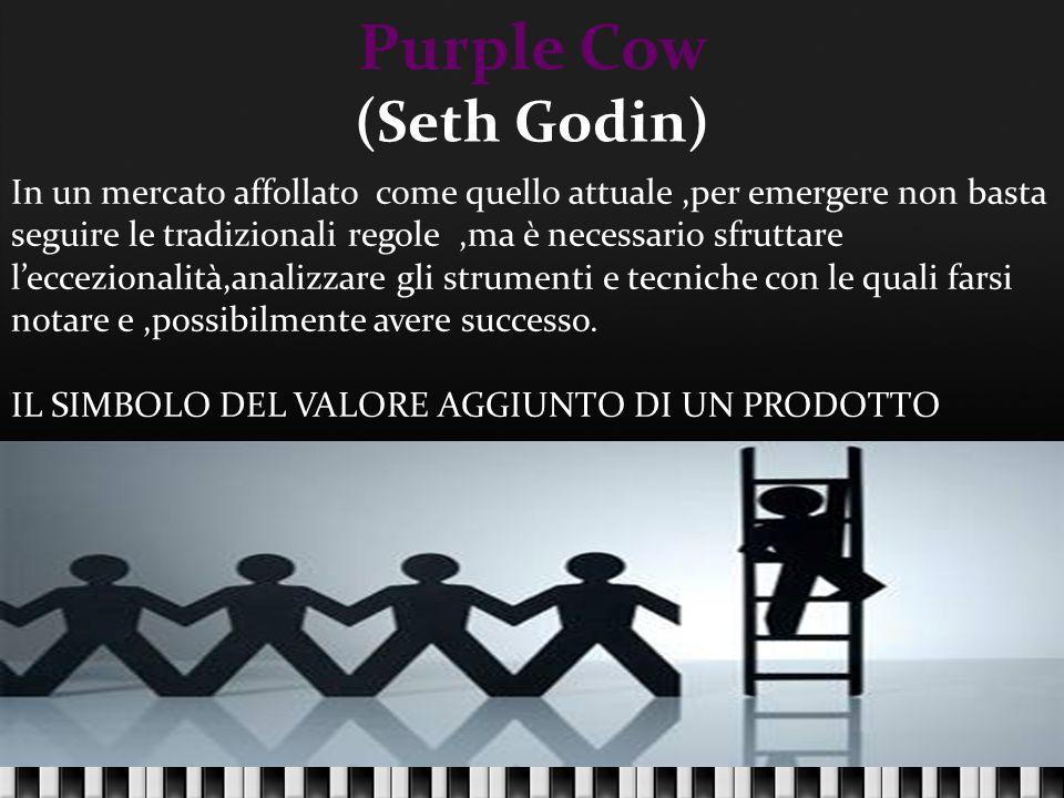 Purple Cow (Seth Godin) In un mercato affollato come quello attuale,per emergere non basta seguire le tradizionali regole,ma è necessario sfruttare l'