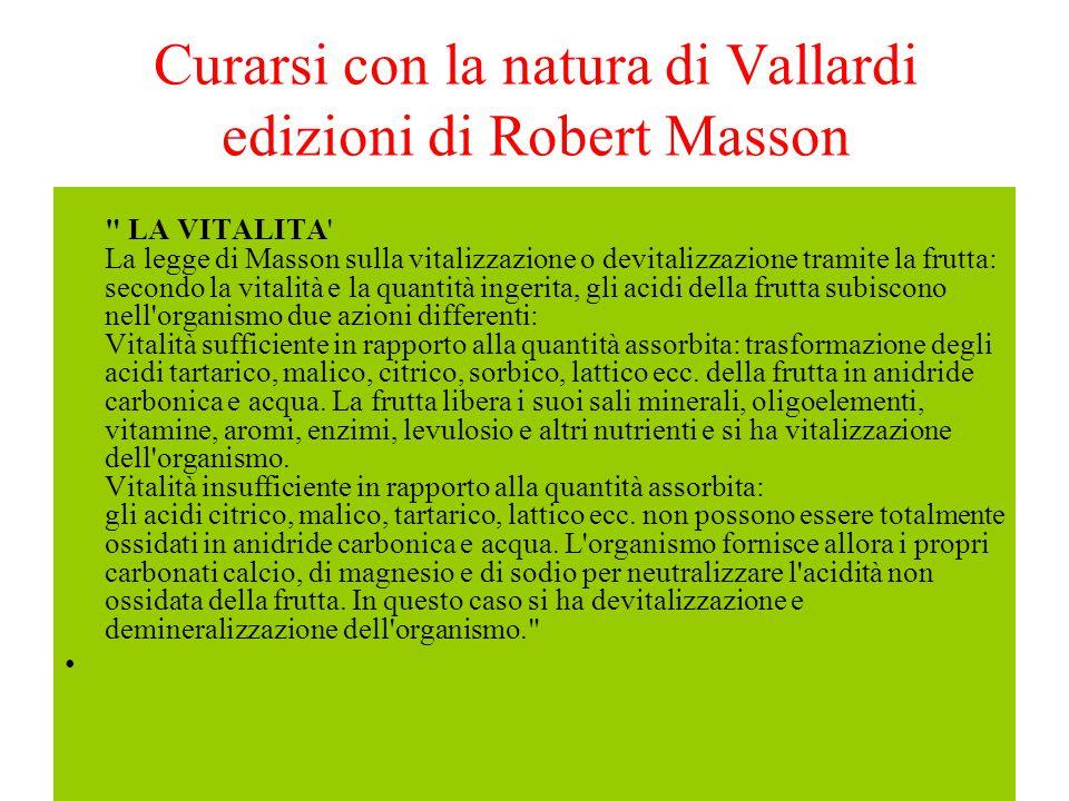 Curarsi con la natura di Vallardi edizioni di Robert Masson