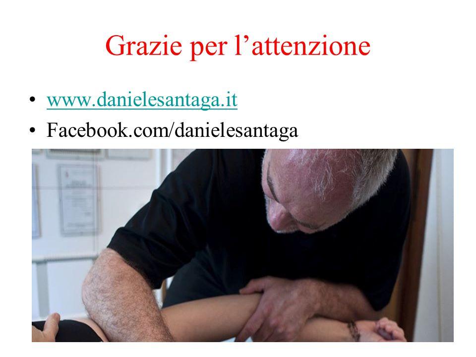 Grazie per l'attenzione www.danielesantaga.it Facebook.com/danielesantaga