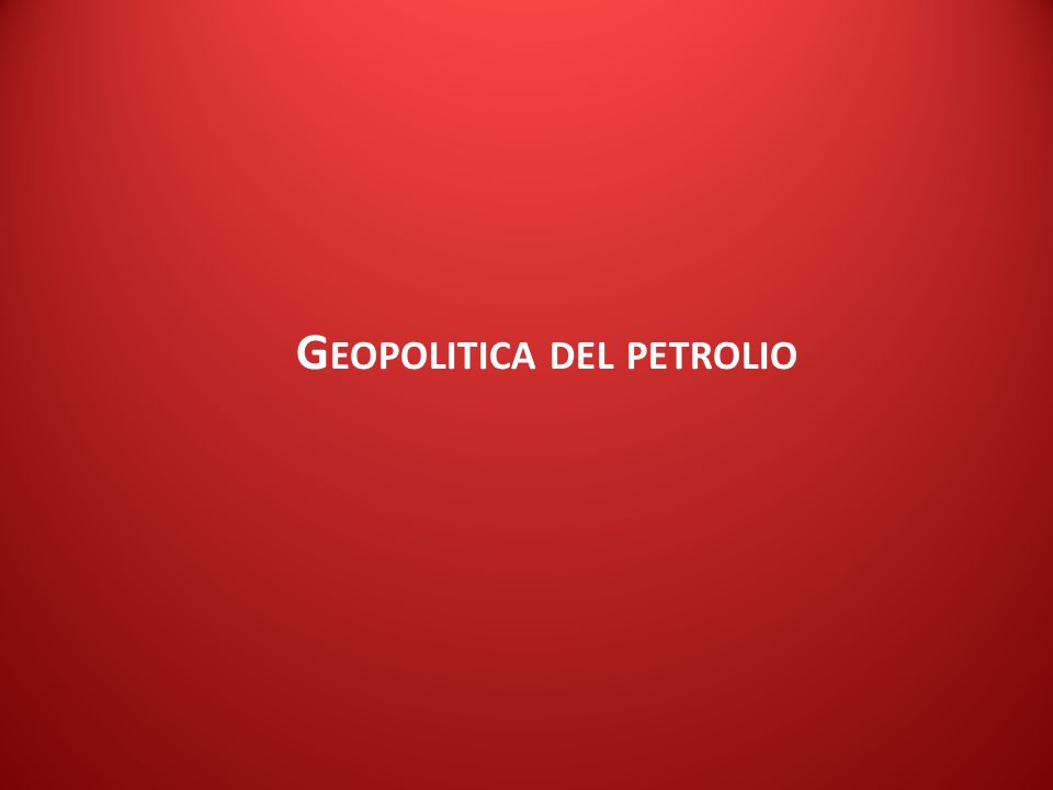 ISPI Energy Watch G EOPOLITICA DEL PETROLIO
