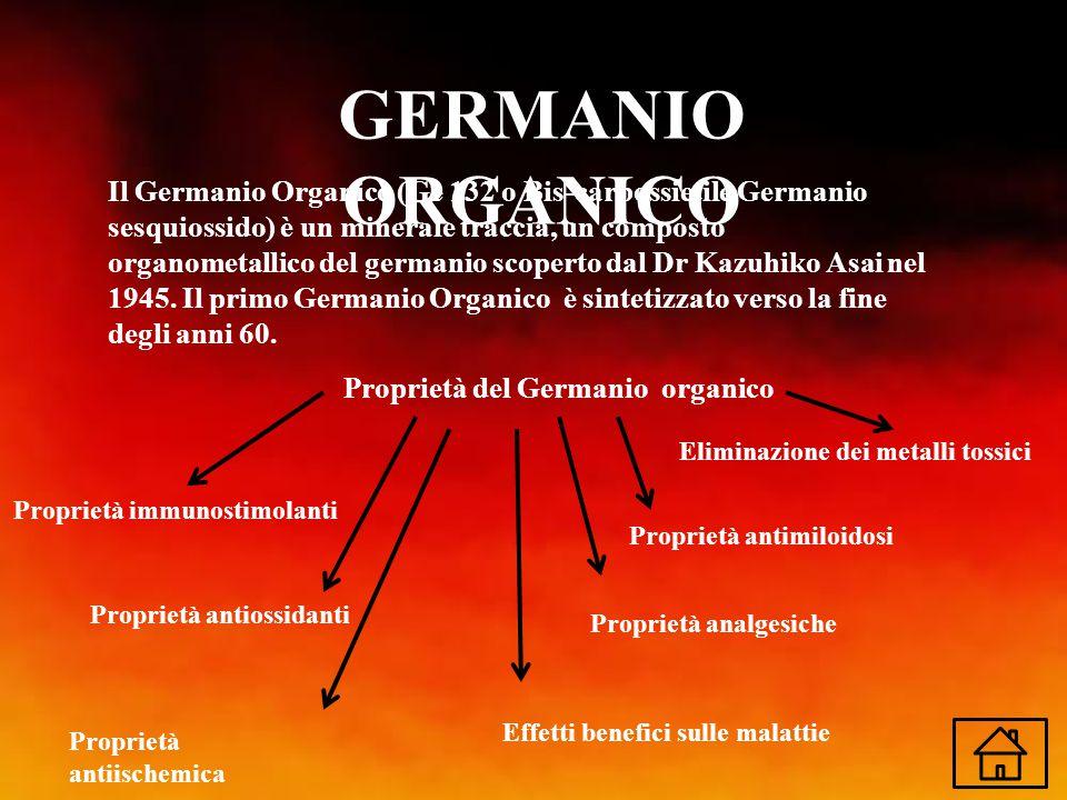 GERMANIO ORGANICO Il Germanio Organico (Ge 132 o Bis-carbossietile Germanio sesquiossido) è un minerale traccia, un composto organometallico del germa