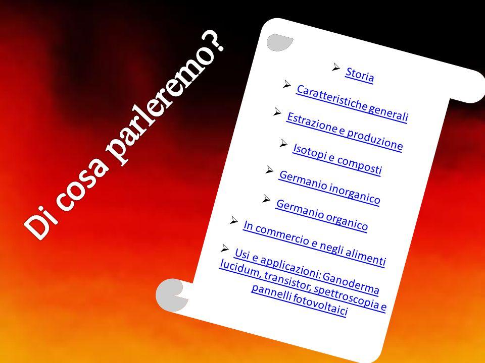  Storia Storia  Caratteristiche generali Caratteristiche generali  Estrazione e produzione Estrazione e produzione  Isotopi e composti Isotopi e c