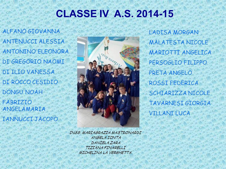 CLASSE IV A.S.