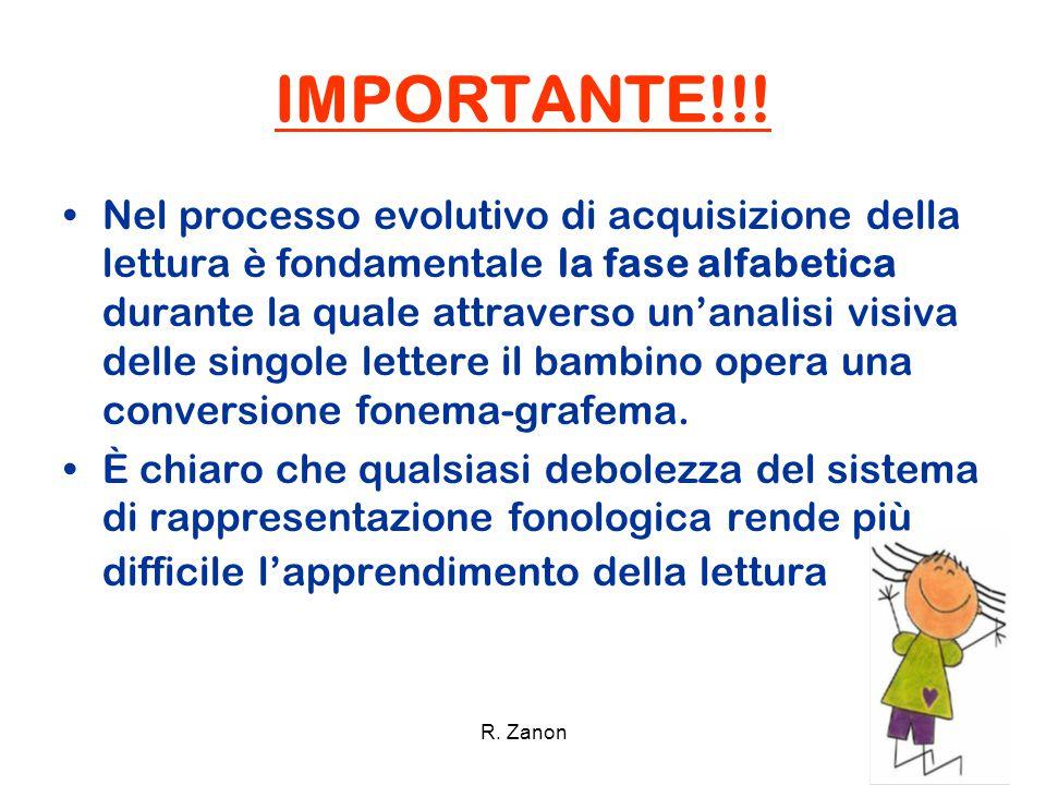 IMPORTANTE!!! Nel processo evolutivo di acquisizione della lettura è fondamentale la fase alfabetica durante la quale attraverso un'analisi visiva del