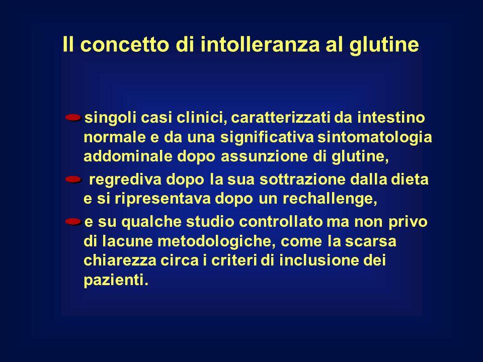 Il concetto di intolleranza al glutine singoli casi clinici, caratterizzati da intestino normale e da una significativa sintomatologia addominale dopo
