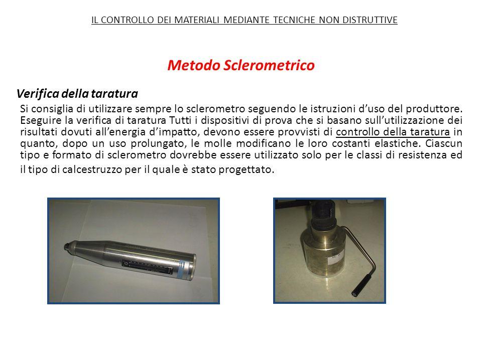 Verifica della taratura Si consiglia di utilizzare sempre lo sclerometro seguendo le istruzioni d'uso del produttore. Eseguire la verifica di taratura