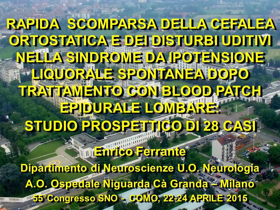 Enrico Ferrante Dipartimento di Neuroscienze U.O. Neurologia A.O.