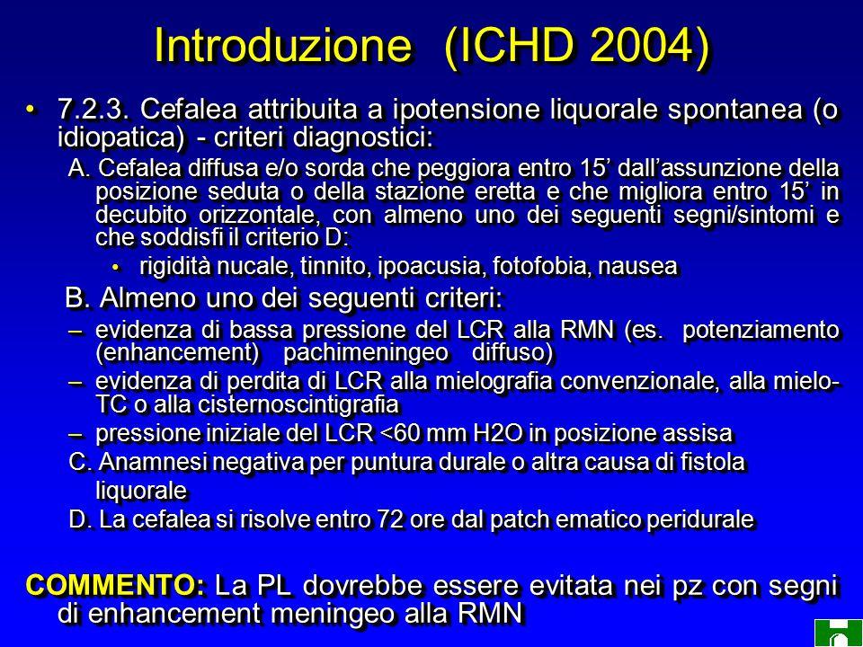 Introduzione (ICHD 2004) 7.2.3.