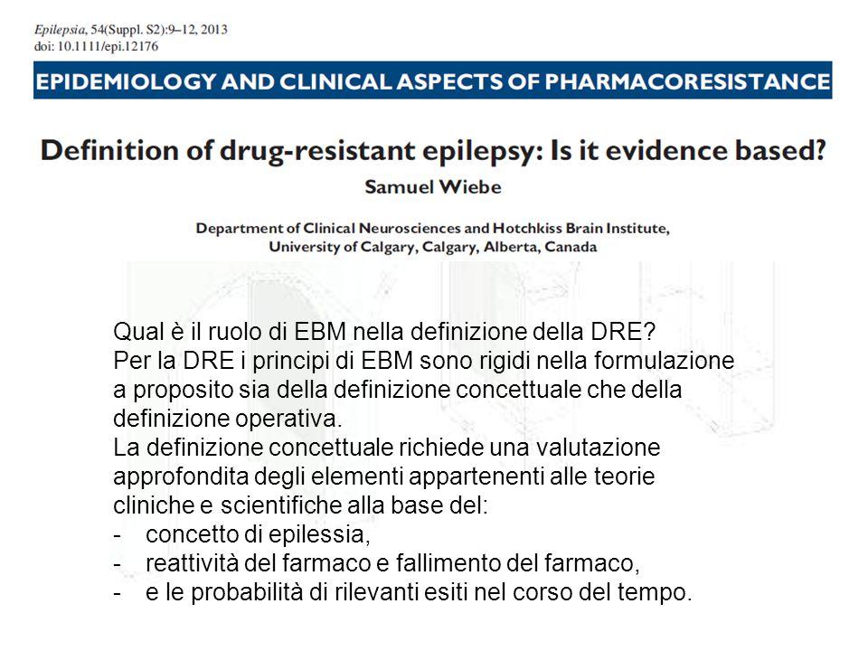 Qual è il ruolo di EBM nella definizione della DRE? Per la DRE i principi di EBM sono rigidi nella formulazione a proposito sia della definizione conc