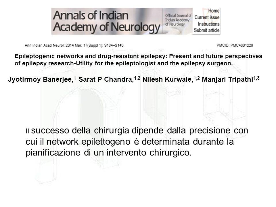 Jyotirmoy Banerjee, 1 Sarat P Chandra, 1,2 Nilesh Kurwale, 1,2 Manjari Tripathi 1,3 Epileptogenic networks and drug-resistant epilepsy: Present and fu