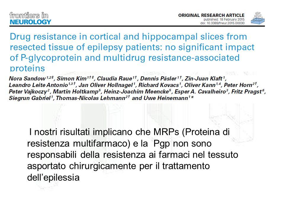 I nostri risultati implicano che MRPs (Proteina di resistenza multifarmaco) e la Pgp non sono responsabili della resistenza ai farmaci nel tessuto asp