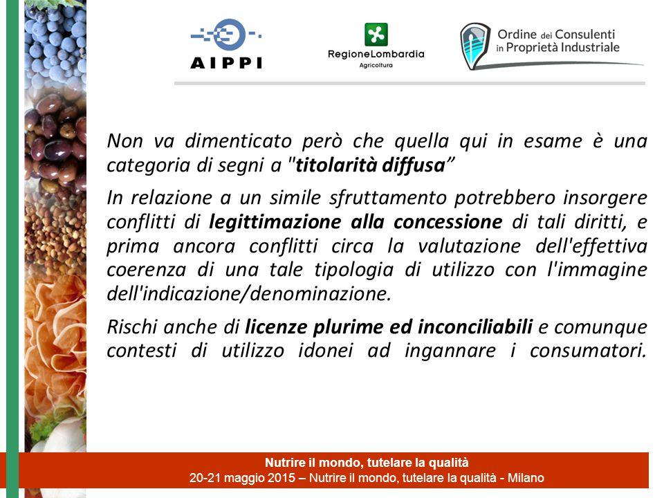 Nutrire il mondo, tutelare la qualità 20-21 maggio 2015 – Nutrire il mondo, tutelare la qualità - Milano Non va dimenticato però che quella qui in esa