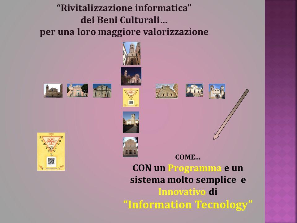 """""""Rivitalizzazione informatica"""" dei Beni Culturali… per una loro maggiore valorizzazione COME... CON un Programma e un sistema molto semplice e Innovat"""