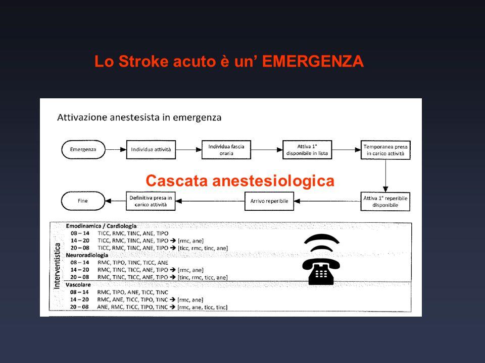 Lo Stroke acuto è un' EMERGENZA Cascata anestesiologica