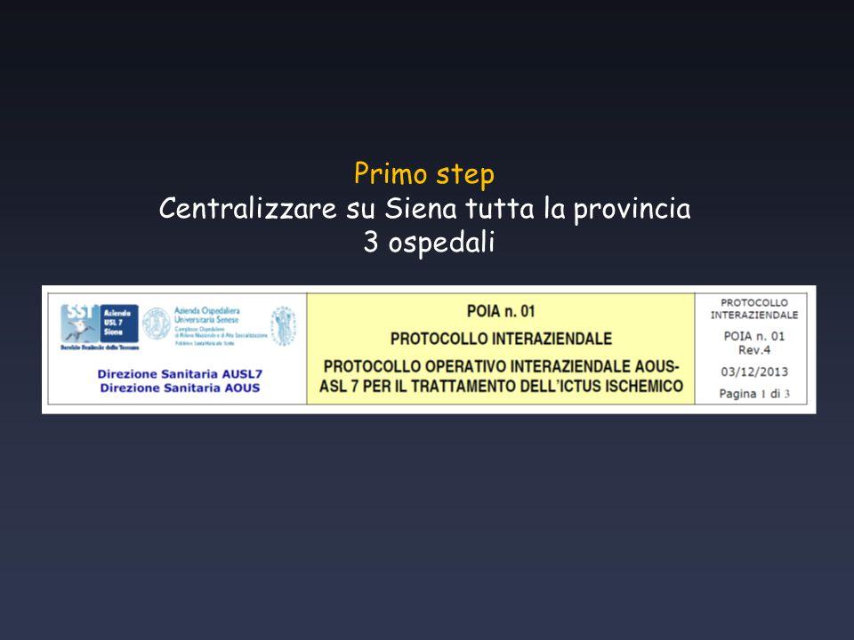 Primo step Centralizzare su Siena tutta la provincia 3 ospedali