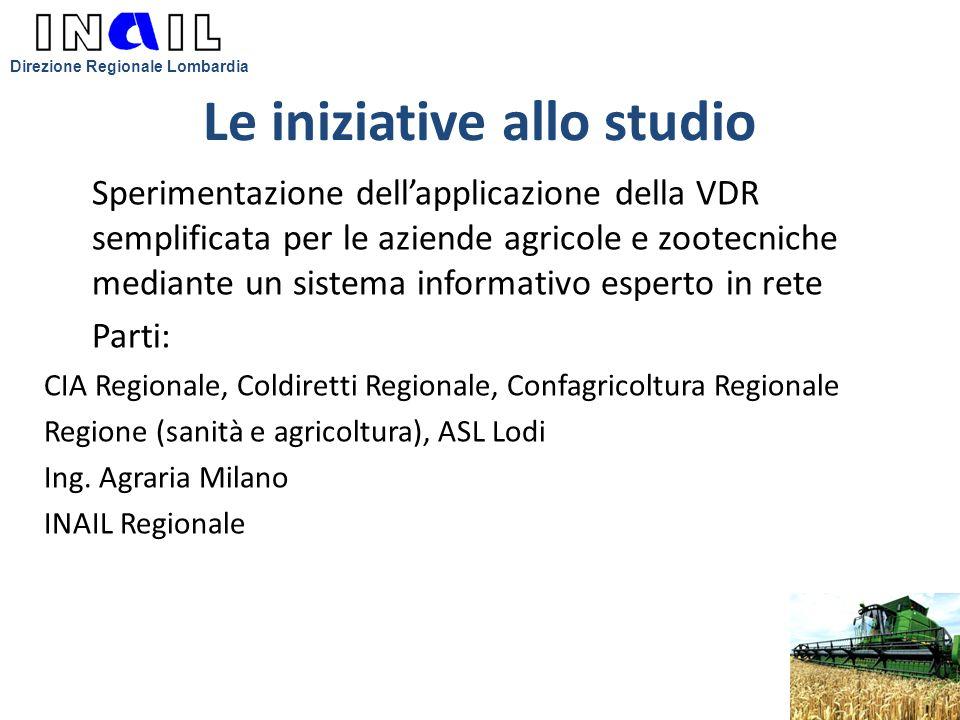Le iniziative allo studio Sperimentazione dell'applicazione della VDR semplificata per le aziende agricole e zootecniche mediante un sistema informati