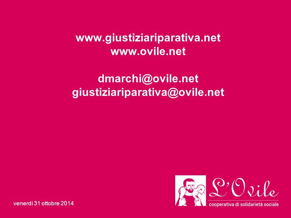 www.giustiziariparativa.net www.ovile.net dmarchi@ovile.net giustiziariparativa@ovile.net venerdì 31 ottobre 2014