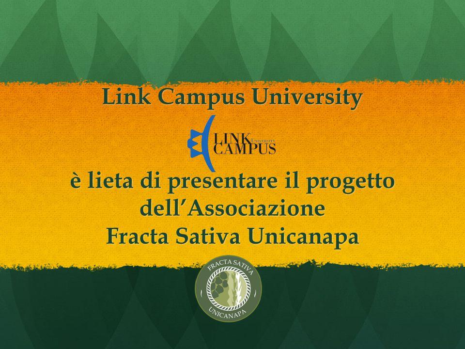 Link Campus University è lieta di presentare il progetto dell'Associazione Fracta Sativa Unicanapa