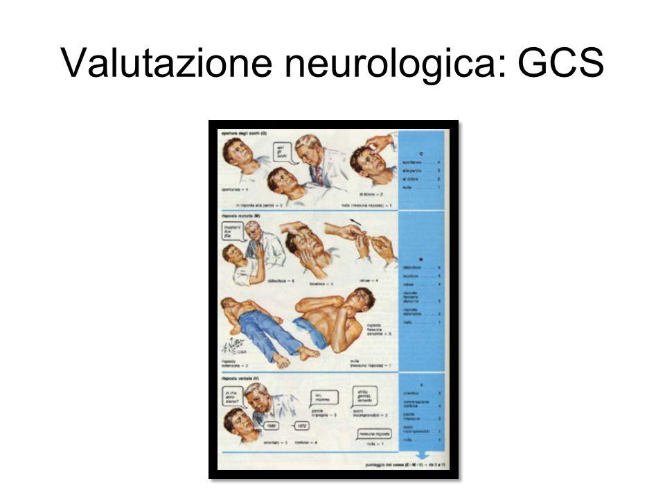 Valutazione neurologica: GCS