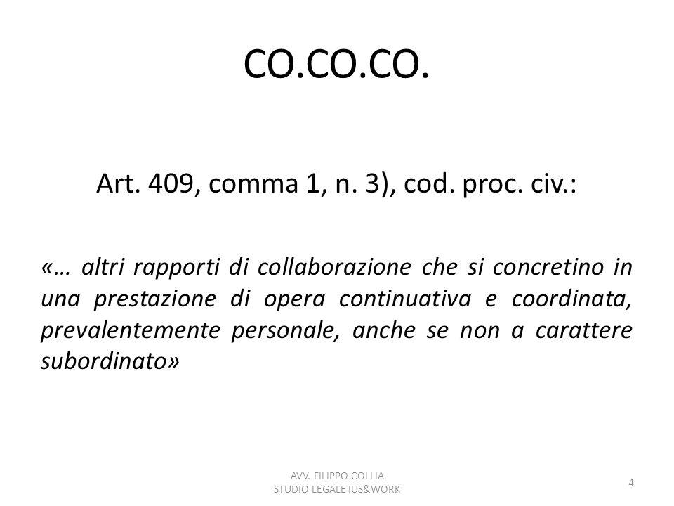 CO.CO.PRO.Art. 61, comma 1, D.Lgs. n.