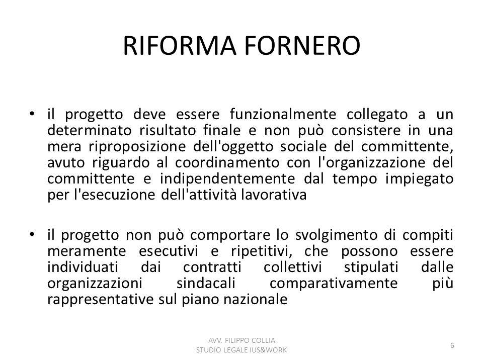 CO.CO.PRO.RAPPORTI ESCLUSI (art. 61 D.Lgs. n.