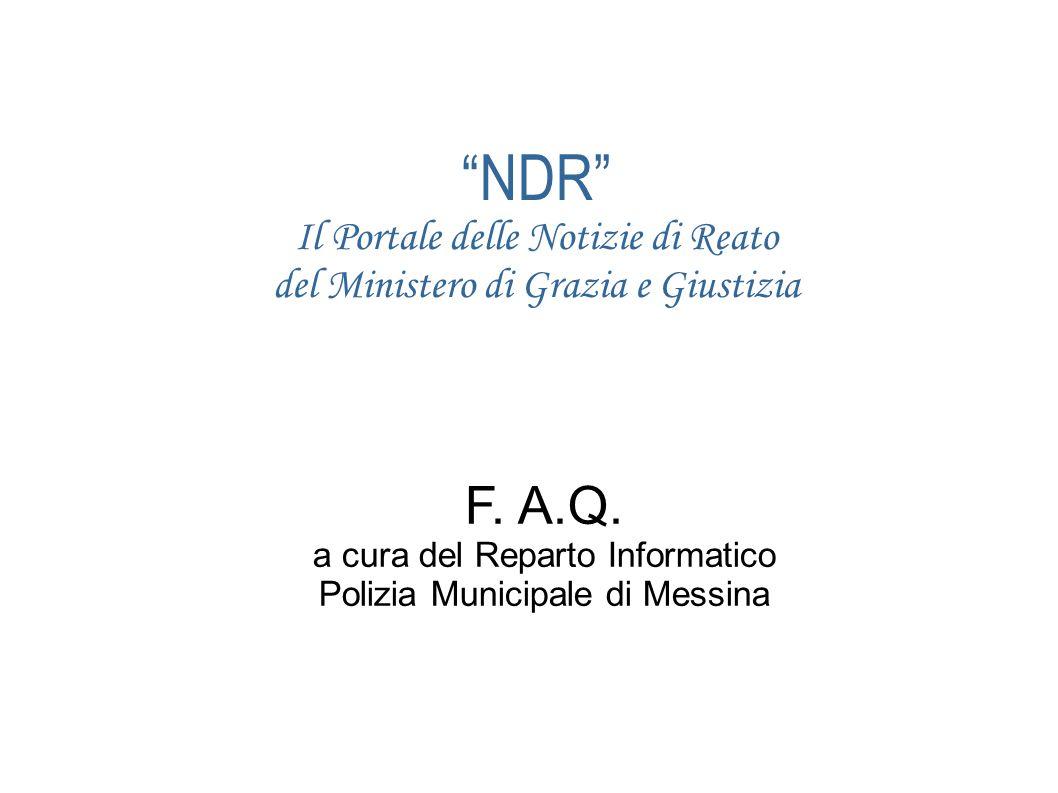 NDR Il Portale delle Notizie di Reato del Ministero di Grazia e Giustizia F.