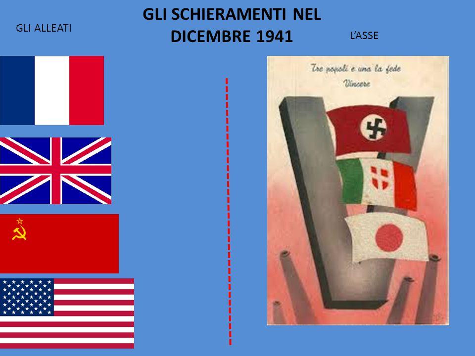 GLI SCHIERAMENTI NEL DICEMBRE 1941 GLI ALLEATI L'ASSE