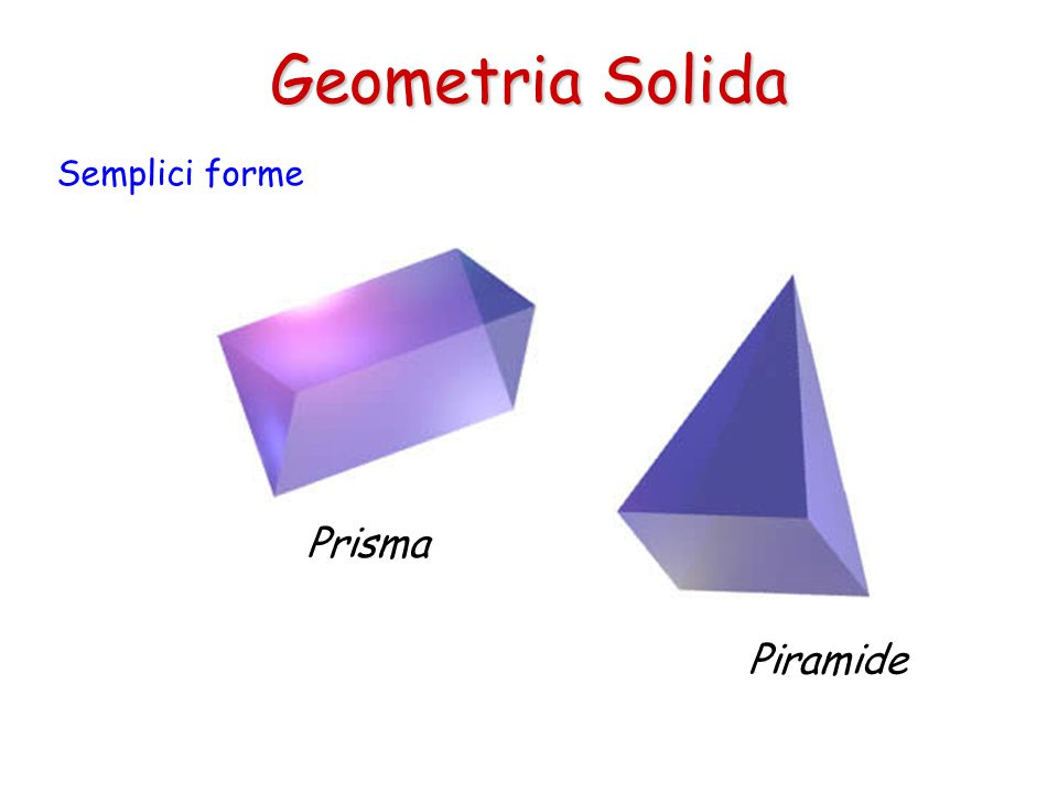 Geometria Solida Semplici forme Prisma Piramide