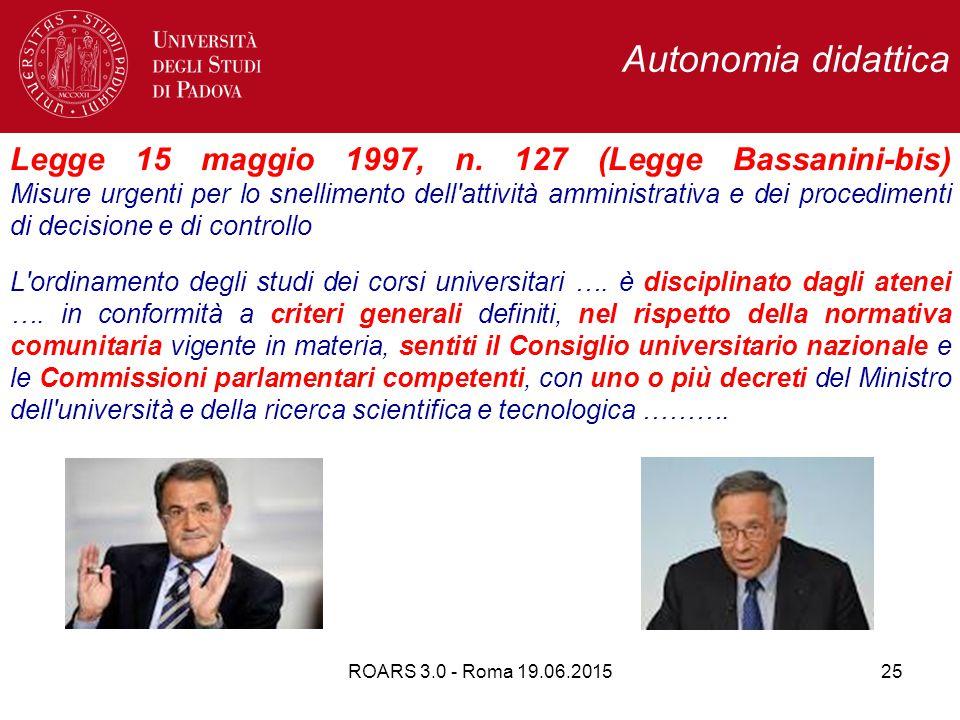 Autonomia didattica Legge 15 maggio 1997, n.