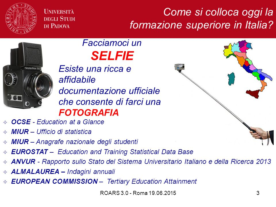 ROARS 3.0 - Roma 19.06.201554 I provvedimenti attuativi della legge 240 Accreditamento delle sedi e dei corsi di studio DECRETO LEGISLATIVO 27 gennaio 2012, n.