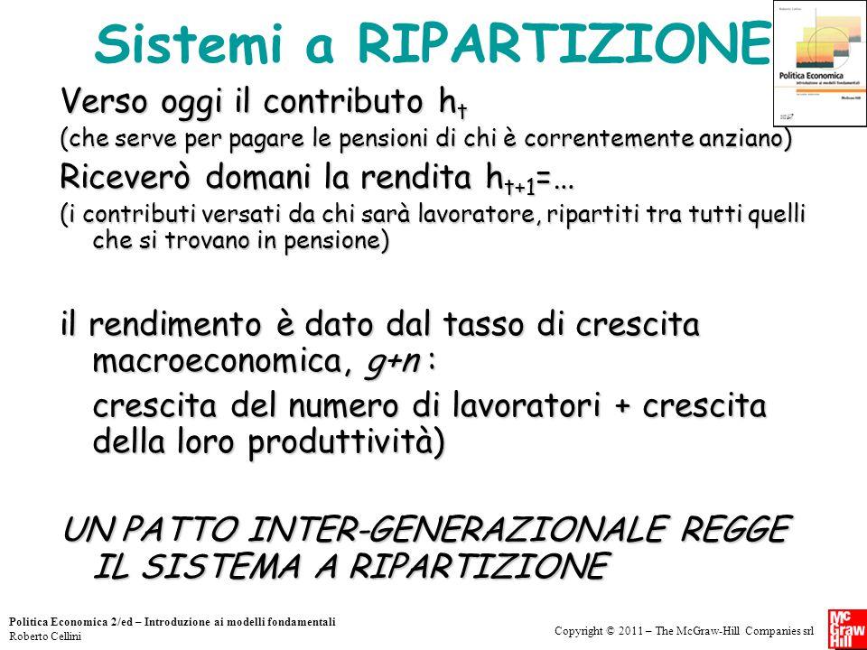 Copyright © 2011 – The McGraw-Hill Companies srl Politica Economica 2/ed – Introduzione ai modelli fondamentali Roberto Cellini Sistemi a RIPARTIZIONE