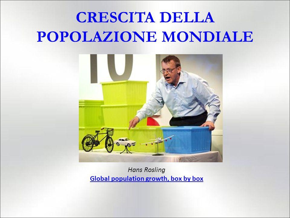 CRESCITA DELLA POPOLAZIONE MONDIALE Hans Rosling Global population growth, box by box