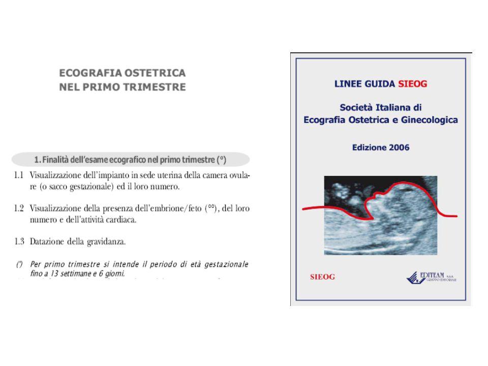 Sacco Gestazionale Il primo segno ecografico suggestivo di gravidanza è la visualizzazione del sacco gestazionale.